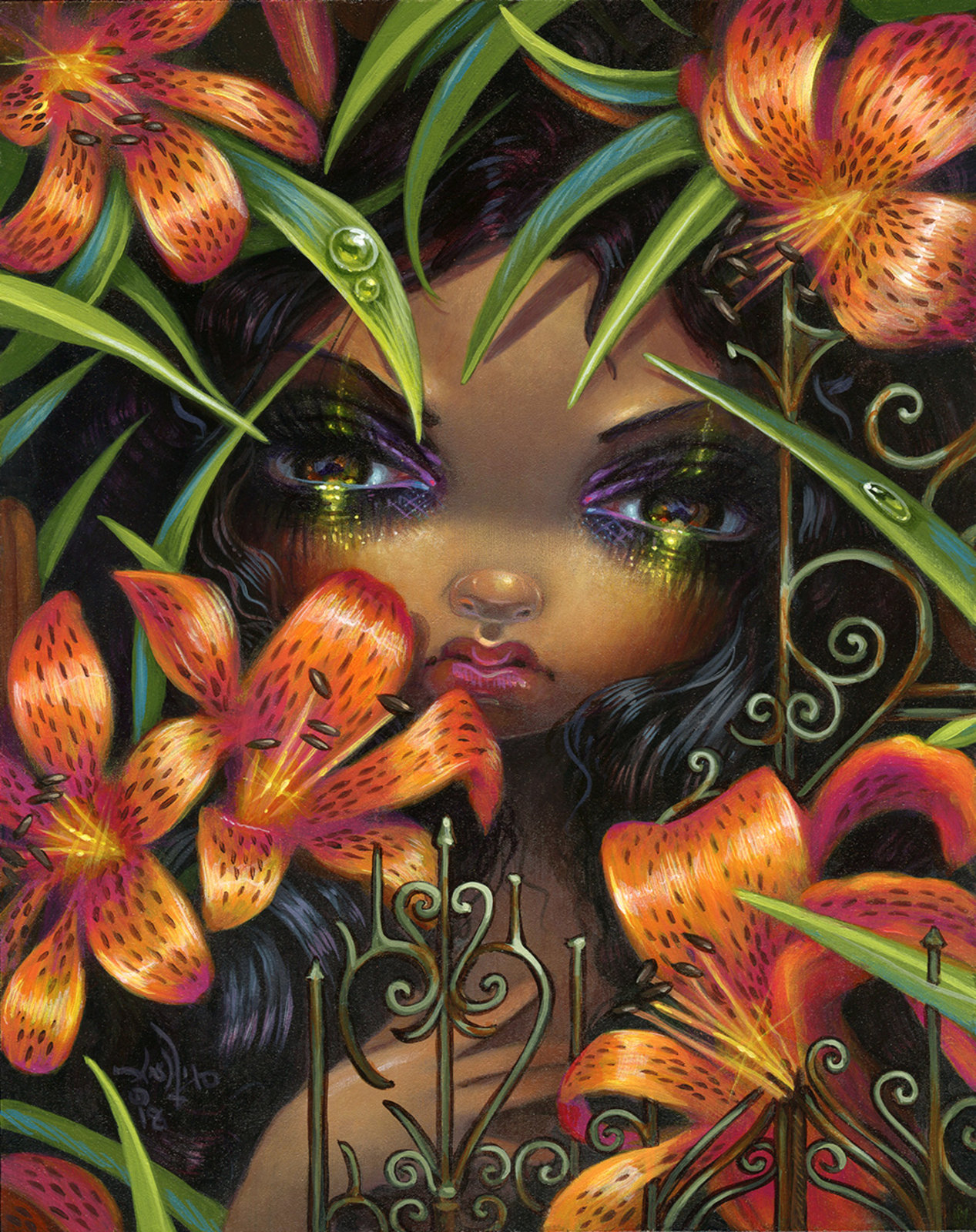Corey helford gallery shows show detail jasmine becket griffith magical thinking the language of flowers v tiger lily izmirmasajfo